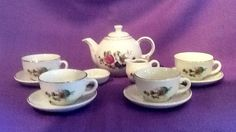 1950s child's tea set made in Germany 12 pieces in original box