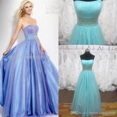 Wholesale Strapless Prom Dress - Buy Strapless Purple A Line Elastic Satin Homecoming Dresses Quinceanera/Prom/ Evening Dress Gown 5657, $116.48 | DHgate