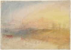 JMW Turner Watercolor Landscape, Watercolor And Ink, Landscape Paintings, Joseph Mallord William Turner, Paintings I Love, Beautiful Paintings, Turner Watercolors, English Artists, World Of Warcraft