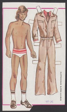 ABBA Bjorn Ulvaeus Scarce Vintage Paper Doll issued in Sweden | eBay