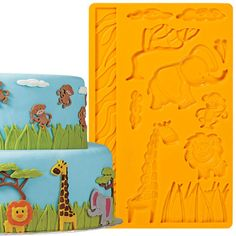 Wilton Jungle Animals Fondant and Gum Paste Mold 409-2558