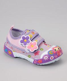 Chulis Footwear Purple Flower Strap Sneaker by Chulis Footwear #zulily #zulilyfinds