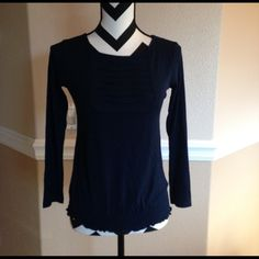 Navy blue shirt Great condition! Tops Tees - Long Sleeve