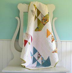 Handmade  Baby Quilt by BlueElephantStitch on Etsy