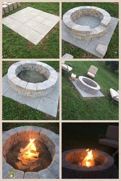 DIY Fire Pit- So Easy! (It only takes an hour!) - Do it yourself decoration-DIY Fire Pit- So einfach!) – Dekoration Selber Machen DIY Fire Pit- So Easy! (It only takes an hour! Diy Fire Pit, Fire Pit Backyard, Backyard Seating, Garden Fire Pit, Back Yard Fire Pit, How To Build A Fire Pit, Fire Pit On Pavers, Building A Fire Pit, Deck With Fire Pit