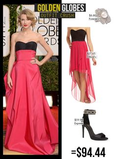 just so i can do a bff couple's costume as jennifer lawrence photo-bombing taylor swift at the golden globes hahah