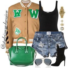 Pep Rally  Click link in bio to shop the look, including look for less options… Diva Fashion, Denim Fashion, Fashion Addict, Fashion Trends, Sporty Outfits, Hot Outfits, Trendy Outfits, Games For Teens, Style Me