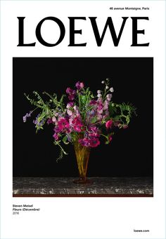 Steven Meisel presents a still life photo, entitled Flowers for Loewe's fall-winter 2017 campaign.