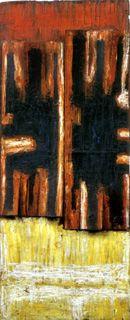 Caja Signo I (Buenos Aires,1961) Oleo sobre madera - Pérez Celis (Argentina 1939-2008)