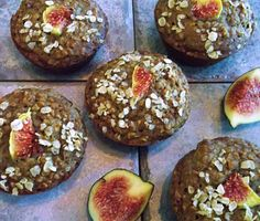 Why so many muffins you ask? I bake fresh muffins pretty much every week for my children. It makes me feel good to know that they are getting some homespun goodness in their lunchboxes and it̵… Fig Recipes Healthy, Apple Recipes, Healthy Baking, Cooking Recipes, Healthy Snacks, Fresh Figs, Fresh Apples, Whole Grain Oatmeal, Bakery Menu