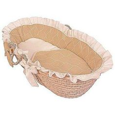 Hoohobbers Ecru Moses Basket   Ruffled   Perfect For Boys And Girls, The  Hoohobbers Ecru Moses Basket   Ruffled Gives Your Baby A Cozy Place To Sleep  The ...