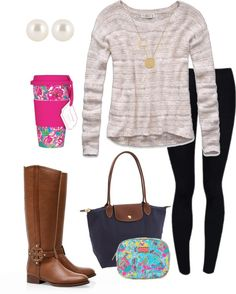"""""""Dress-Down Day Outfit"""" by pinkprep37 ❤ liked on Polyvore"""
