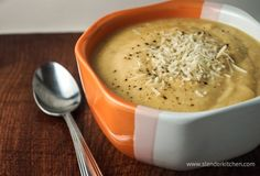Sunday Slow Cooker:  Cheesy Cauliflower Soup