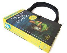 Nancy Drew Book Purse  Secret of the Old Clock and by retrograndma, $49.99