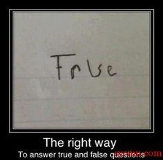 True? False? False? True?!?