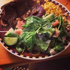 carne con ensalada