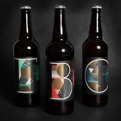 Gorgeous geometric #packagingdesign for @vaultbrewing's artist series by @mesmithdesign. These 3 varietals were specially aged in Chardonnay Tequila  Apple Brandy barrels. #graphicdesign by aigadesign http://ift.tt/1XcBOXv