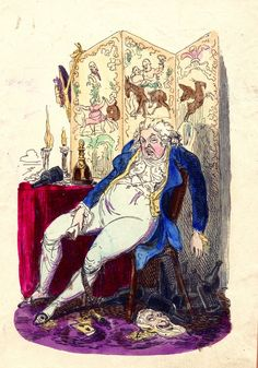 A caricature of the Prince Regent