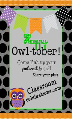 October Pinterest Party~ Classroom Celebrations~Link up to share teacher pins!