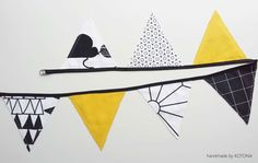 Viirinauha musta-kelta | handmadebykotona Banners, Decals, Home Decor, Tags, Decoration Home, Room Decor, Banner, Decal, Posters