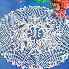 Crochet Lace Tablecloth or Large Dolly