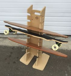 OBERAND Eight Spot Longboard Floor Rack by AOCollective on Etsy
