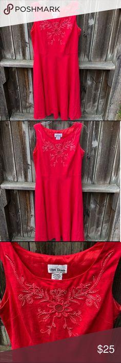 3a071275f294a Ultra Dress Beading Sleeveless Embroidered Dress Ultra Dress New York  Beaded Appliqué Dress Zip Up Closure