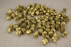 These are beautiful quality raw brass fluted beads. They are gyro beads. There are 38 pieces in a listing. Jewellery Making Materials, Jewelry Making, Diy Craft Projects, Diy Crafts, Jewelry Crafts, Jewelry Ideas, Gold Beads, Diamond Shapes, Flute
