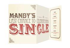 SINgle Bachelorette Party Invitations Set of 10 by JacksMaster