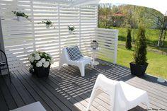 Outdoor Rooms, Outdoor Gardens, Outdoor Living, Outdoor Decor, Outdoor Privacy, Garden Kiosk Ideas, Scandinavian Garden, Diy Terrasse, Garden Fencing