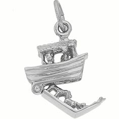 I Just Love how this Noah's Ark Sterling Silver Charm Opens Up.  See more religious silver charms at:  http://www.charmnjewelry.com/category/sterling_silver/Religious_Charms.htm #ReligiousCharm