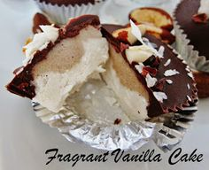 Fragrant Vanilla Cake: Raw Brazil Nut Coconut Cacao Cups