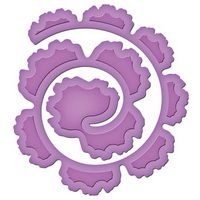 """Spiral Blossom One $19.99 Approximate Die Template Sizes:    4⅛ x 4¼"""", ⅝"""" wide strip"""