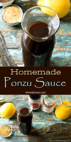 This fantastic and citrusy, homemade Ponzu Sauce can be used as a dipping sauce, condiment, marinade, or stir fry sauce! Vegan Recipes Easy, Asian Recipes, Cooking Recipes, Cooking Sauces, Sushi Recipes, Skillet Recipes, Dinner Recipes, Chutney, Sauce Japonaise