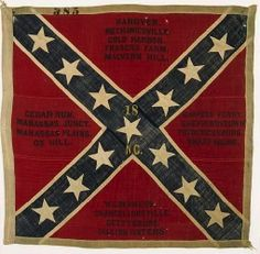 Battle Flag of the 14th North Carolina Infantry. 4th wool issue from the Richmond Depot, 1864