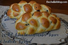 The Challah Blog: Wild Blueberry and Agave Challah