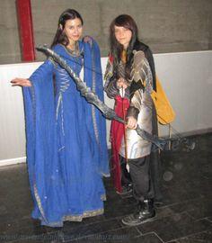 Lúthien and an Elven warrior-woman by ArwendeLuhtiene.deviantart.com on @deviantART. At the Expomanga 2014 Madrid