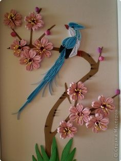 Birds of Paradise Paper Quilling Photo 1