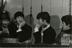 Paul and John look particularly charming during this February 10th press conference at the Plaza Hotel in NYC.