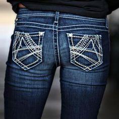 ARIAT  Onyx Threaded Skinny Jeans