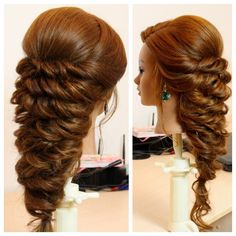 "845 Likes, 35 Comments - Sklemina Tatiana (@womenbeauty1hairstyles) on Instagram: ""Hello everyone ! Here is new romantic hairstyle ... Full tutorial available on my channel."""