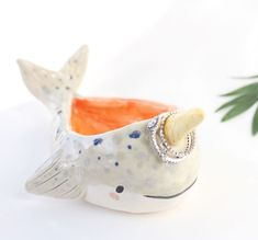 https://www.instagram.com/etsy_exclusives/ A narwhal ring dish. The most logical place for your jewelry, we love it!