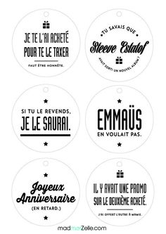 Geschenk - étiquettes originales - Pimp ton cadeau avec une pimpante étiquette made in ma. Diy Christmas Tags, Christmas And New Year, Christmas Time, Christmas Garden, Christmas Presents, Diy Weihnachten, Merry Xmas, Printables, Diys