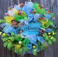UP Wreath UP Decoration UP Party All Season Wreath by BaBamWreaths