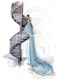 Fashion illustration ✿ ⊱╮ by VoyageVisuel