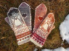 Tanssivat Puikot: Enkeleitä Knit Mittens, Socks, Fingerless Gloves, Arm Warmers, Elsa, Clovers, Knitting, Hats, Fashion