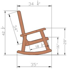 Wooden Lighthouse Rocking Chair with Comfortable Deep Seat is part of Wooden rocking chairs - Plans Rocking Chair, Rocking Chair Bois, Wooden Chair Plans, Wooden Rocking Chairs, Outdoor Furniture Plans, Wooden Chairs, Modern Wood Chair, Chair Design Wooden, Woodworking Projects Diy