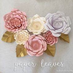 Paper Leaf Tutorial | ashandcrafts.com