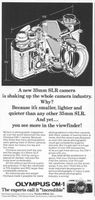 Olympus OM-1 Camera 1976 Ad Picture