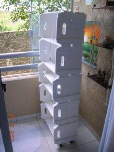Prateleira de caixote - Vanessa Artesanato